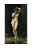 Diana Bathing (The Fountain) Giclee Print by Jean-Baptiste Camille Corot