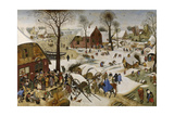 The Census at Bethlehem (The Numbering at Bethlehe), First Third of 17th C Reproduction procédé giclée par Pieter Brueghel the Younger