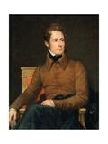 Portrait of Alphonse-Marie-Louis De Prat De Lamartine Giclee Print by François Pascal Simon Gérard