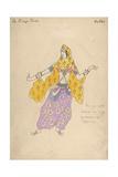Polovtsian Girl. Costume Design for the Opera Prince Igor, 1909 Giclee Print by Konstantin Alexeyevich Korovin