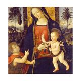 Virgin and Child with John the Baptist as a Boy, 1490-1500 Giclée-tryk af Bernardino Pinturicchio