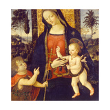 Virgin and Child with John the Baptist as a Boy, 1490-1500 Wydruk giclee autor Bernardino Pinturicchio