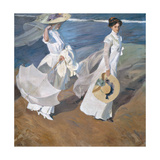 Strolling Along the Seashore Giclee Print by Joaquín Sorolla y Bastida