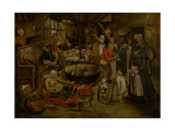 Visit to the Peasants, First Third of 17th C Reproduction procédé giclée par Pieter Brueghel the Younger
