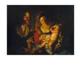The Holy Family Giclee Print by Matthias Stomer