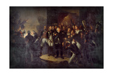 Louis XVIII Left the Tuileries on the Night of March 20, 1815 Giclee Print by Antoine-Jean Gros
