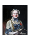 Portrait of Princess Maria Josepha of Saxony Giclee Print by Maurice Quentin de La Tour