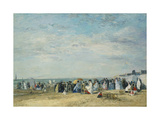 The Beach at Trouville Giclee Print by Eugène-Louis Boudin