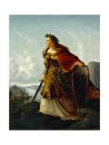 Germania at the Watch on the Rhine Giclee Print by Lorenz Clasen