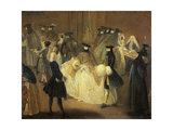 Casino (Il Ridott), Second Half of the 18th C Giclee Print by Pietro Longhi