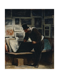 The Prints Collector Giclee Print by Honoré Daumier