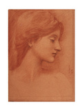Female Head Giclee Print by Edward Coley Burne-Jones