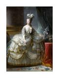Portrait of Queen Marie Antoinette of France (1755-179) Giclee Print by Marie Louise Elisabeth Vigée-Lebrun
