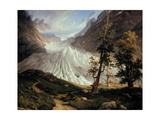 The Lower Grindelwald Glacier Giclee Print by Thomas Fearnley