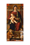 The Virgin and Child Enthroned with Two Musician Angels, 1508-1510 Giclee Print by Cristoforo Caselli