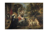 Rest on the Flight into Egypt, with Saints, C. 1635 Giclee Print by Pieter Paul Rubens