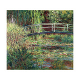 Waterlily Pond, Pink Harmony (Le Bassin Aux Nymphéas, Harmonie Ros) Giclee Print