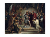 Baptism of Clovis at Reims, 25 December 496 Giclee Print by François-Louis Dejuinne