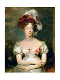 Princess Caroline of Naples and Sicily (1798-187), Duchesse De Berry Giclée-tryk af Thomas Lawrence