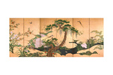 Birds and Flowers of Spring and Summer, Second Half of the 17th C Wydruk giclee autor Kano Eino