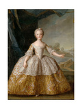 Princess Isabella of Parma (1741-176) as Child Giclee Print by Jean-Marc Nattier