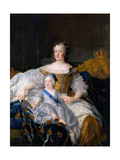 Marie Leszczynska with Louis, Dauphin of France Giclee Print by Alexis Simon Belle