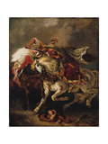 The Combat of the Giaour and the Pasha Giclee Print by Eugène Delacroix