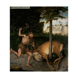 Hercules Capturing the Ceryneian Hind (From the Labours of Hercule) Giclee Print by Lucas Cranach the Elder