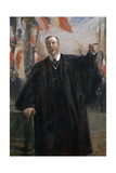 Paul Déroulède (1846-191) Making a Speech at Bougival, January 1913 Giclee Print by Fernand Cormon