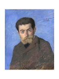 Portrait of Joris-Karl Huysmans (1848-190) Giclee Print by Jean-Louis Forain