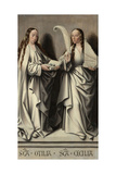 Saints Ottilia and Cecilia (Panel of the St Anne Altarpiec), Ca 1503-1506 Giclee Print