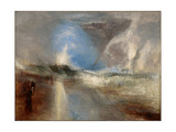 Rockets and Blue Lights (Close at Han) to Warn Steam-Boats of Shoal-Water Giclee Print by Joseph Mallord William Turner