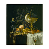 Still-Life with Nautilus Cup Giclee Print by Willem van Aelst