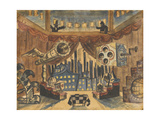 England. Stage Design for the Theatre Play the Flea by E. Zamyatin Giclee Print by Boris Michaylovich Kustodiev