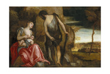 The Family of Cain Wandering Giclee Print by Paolo Veronese
