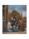 A Burgher of Delft and His Daughter (Adolf Croeser and His Daughter Catharina Croese) Giclee Print by Jan Havicksz Steen