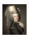 Portrait of Queen Marie Antoinette of France (1755-179) Giclee Print by Adolf Ulrik Wertmüller