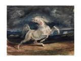 Cheval effrayé par les éclairs Reproduction procédé giclée par Eugène Delacroix