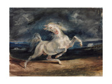 Horse Frightened by Lightning Giclee Print by Eugène Delacroix