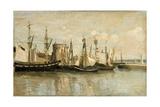La Rochelle. Entrée Du Port D'Échouage Giclee Print by Jean-Baptiste Camille Corot