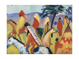 Indians on Horseback Giclee Print by August Macke