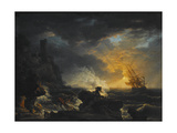 Shipwreck, Second Half of the 18th C Giclée-Druck von Claude Joseph Vernet