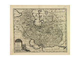 New and Accurate Map of Persia, with the Safavid and Mughal Empire Giclee Print