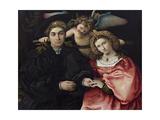 Portrait of Marsilio Cassotti and His Bride Faustina Giclee Print by Lorenzo Lotto