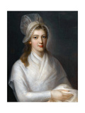 Portrait of Charlotte Corday (1768-179) Giclee Print by Jean-Jacques Hauer