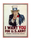 I Want You for U.S. Army, 1917 Giclee Print