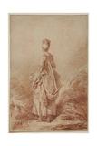 Young Woman Looking Back Impression giclée par Jean-Honoré Fragonard