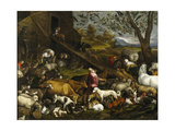 The Animals Board Noah's Ark Giclee Print by Jacopo Bassano