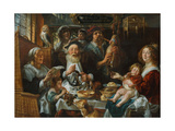 As the Old Sing, So the Young Pipe Giclee Print by Jacob Jordaens