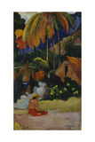 Mahana Maà (Landscape in Tahit) Giclee Print by Paul Gauguin